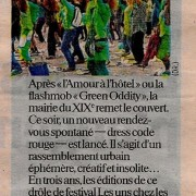 Article-le-parisien-flashmob-festival-les uns chez les autres-19mars2012